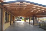 tettoia in legno lamellare