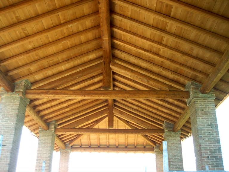 tetto in legno Uso Fiume